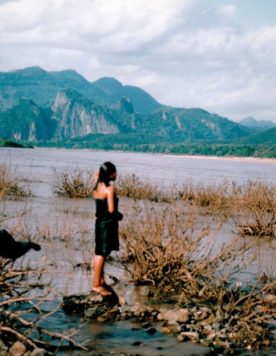 mekong river_bather