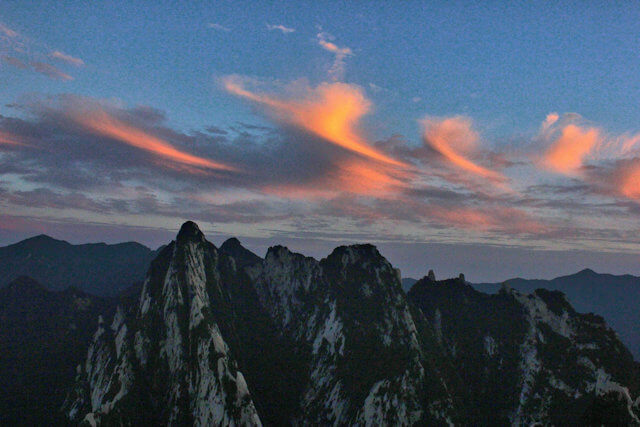 hua shan_sunset
