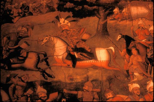 isfahan_chehel sotun_fresco