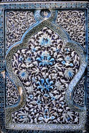 konye urgench_mausoleum of nedjmeddin kubra_tilework