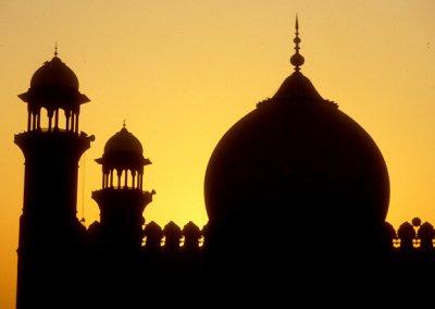 lahore_badshahi mosque_sunset