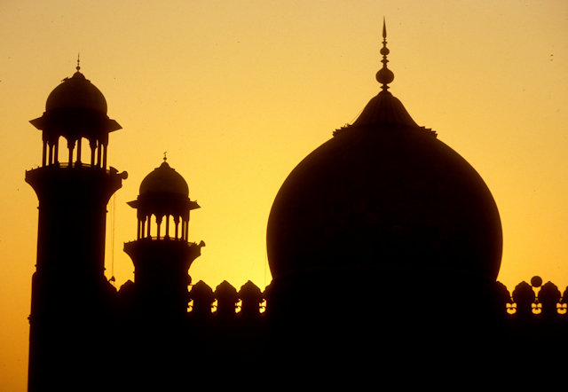 lahore_badshahi mosque_sunset