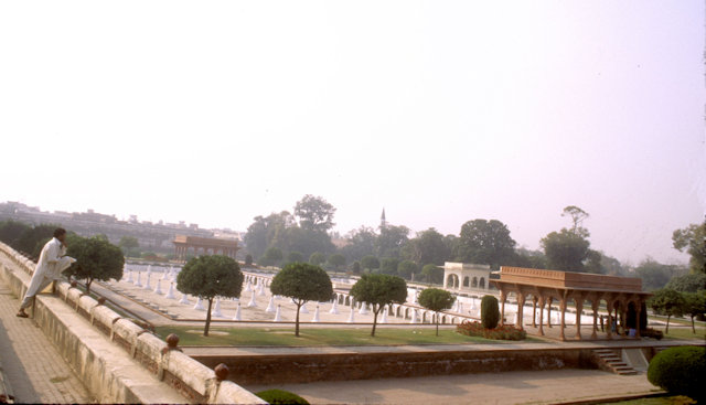 lahore_shalimar gardens_central terrace_overview