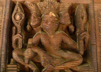 manali_hadimba temple_wood decoration