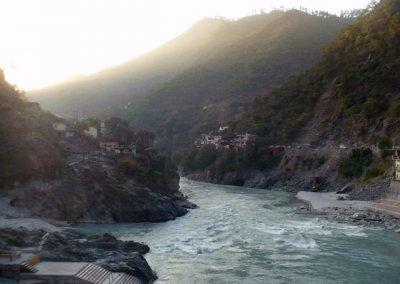 rudraprayag_confluence of alaknanda and mandakini rivers