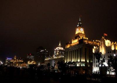 shanghai_bund buildings_night illumination
