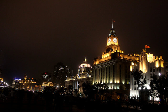 shanghai_bund buildings_night illumination