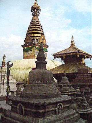 swayambhunath_main stupa and temples