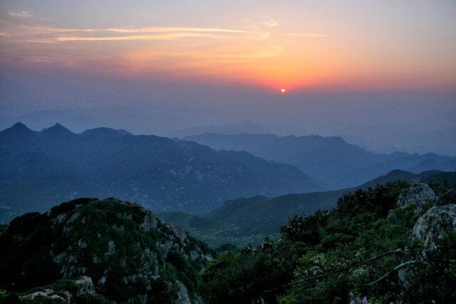 tai shan_landscape at sunset_2