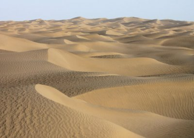 taklamakan desert_sand dunes
