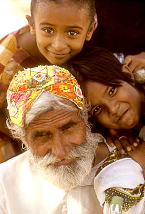 thatta_elderly man and children