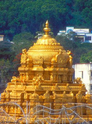 tirupati_sri venkateshvara temple_gold vimana