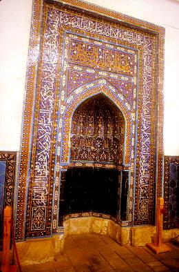 turkestan_khodja yasawi mausoleum_mihrab