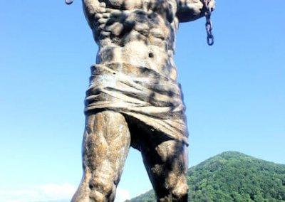sochi_national park_prometheus statue and mt bolshoy akhun