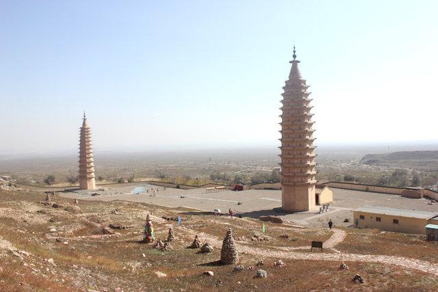 helan mountain_baisikou pagodas