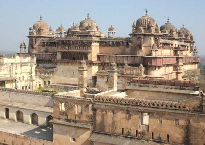 orchha_raj mahal and jahangiri mahal