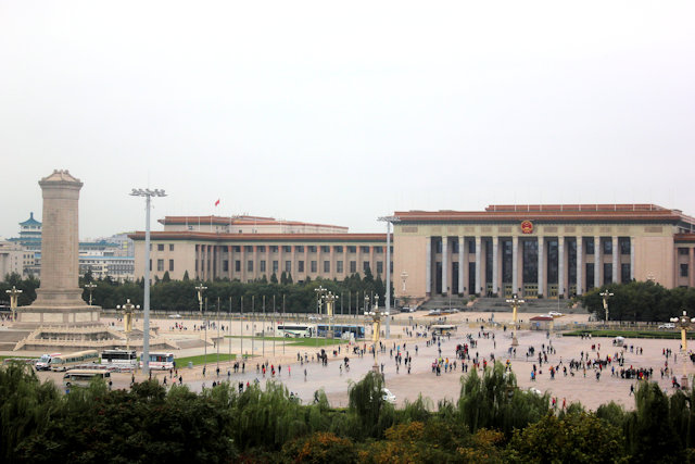 great hall of the people and monument to the people's heroes