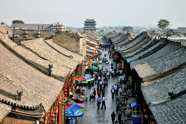 pingyao_rooftops from bell tower