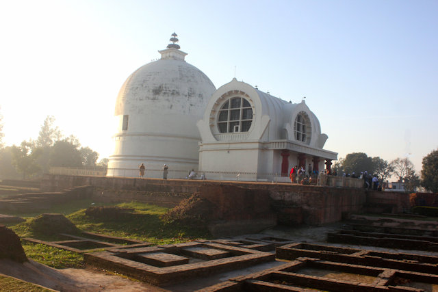 kushinagar_stupa and shrine