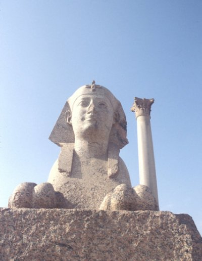 pompey's pillar and sphinx