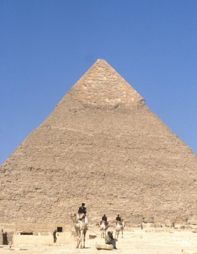 pyramid of chephren and camel patrol