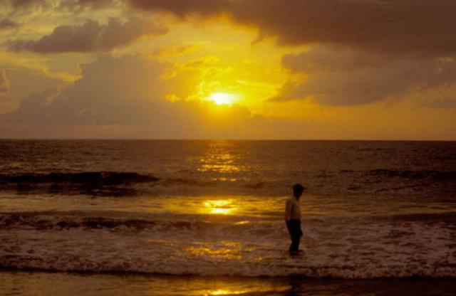kovalam_beach at sunset
