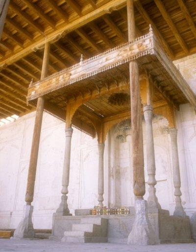 bukhara_ark_kurinesh khana_throne of emir