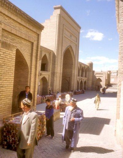 khiva_shir gazi khan madrassah and visitors