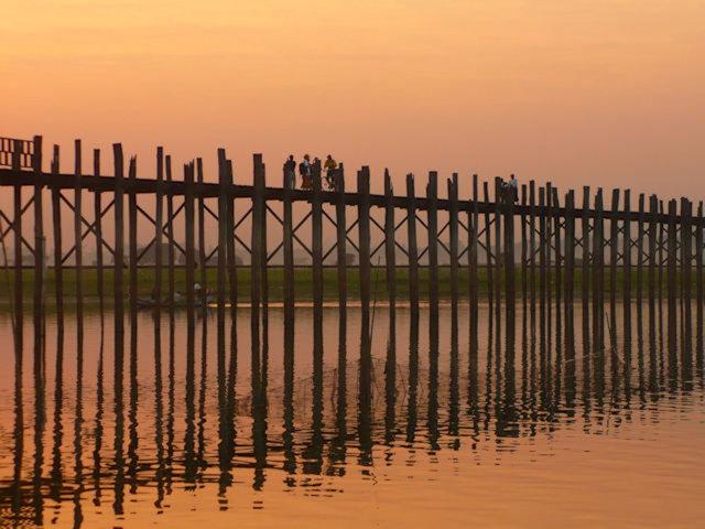 amarapura_u bein bridge_sunset