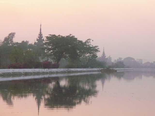 mandalay_royal palace wall_sunset_2