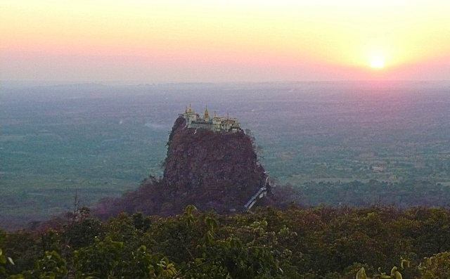mt popa_sunset